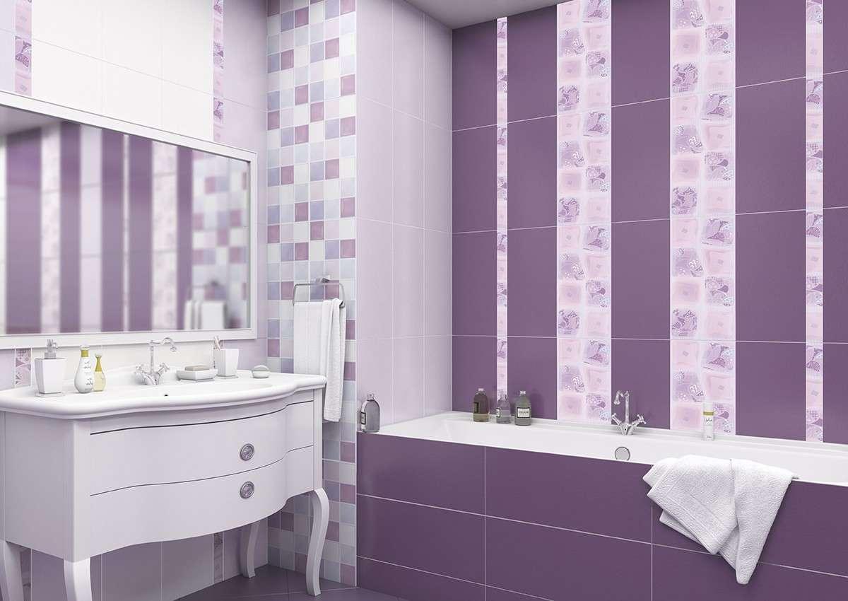 Картинки для ванны фиолетовые плитки